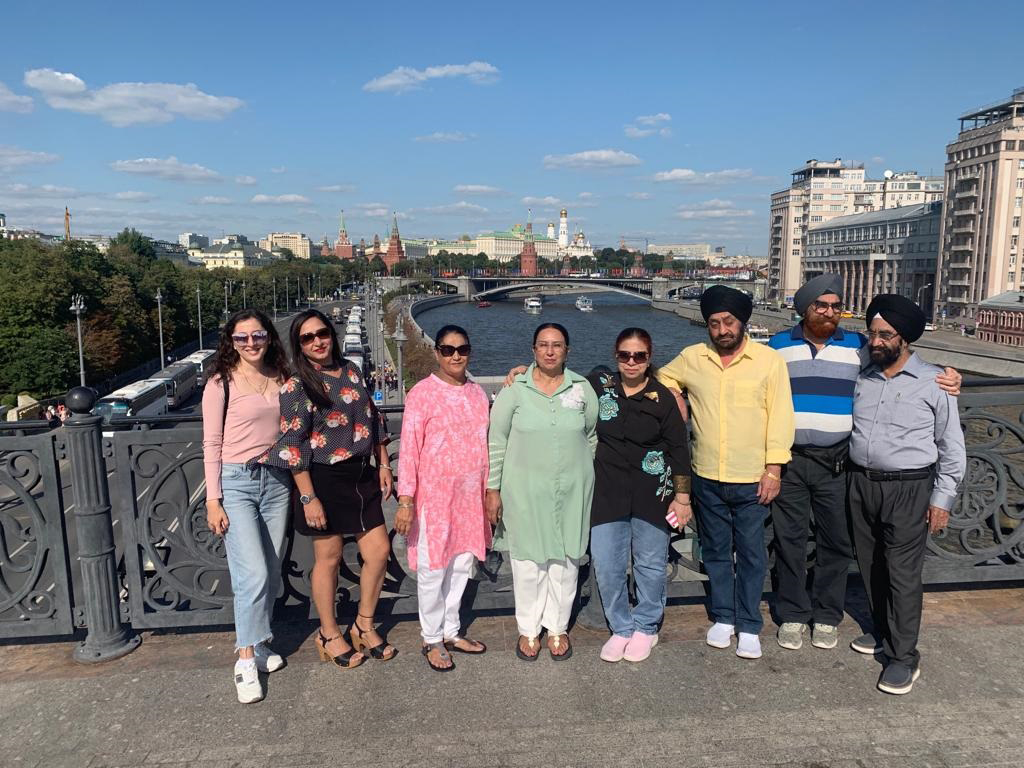 Tourist group from USA in September 2019
