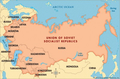 Find out the List of USSR Countries