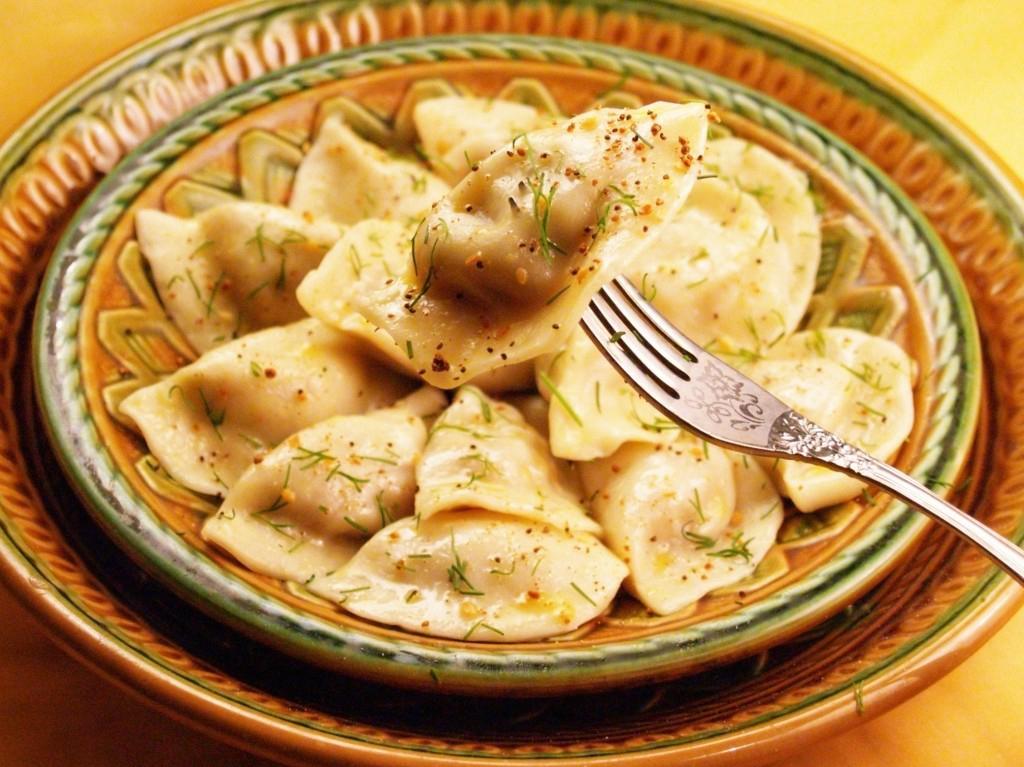 Freshly cooked Russian Dumpling