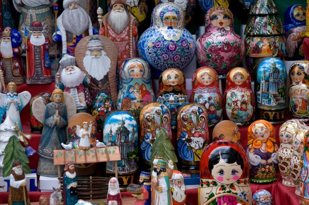 The famous Russian Matryoshka dolls.