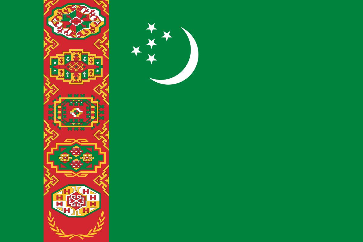 National Flag of Turkmenistan