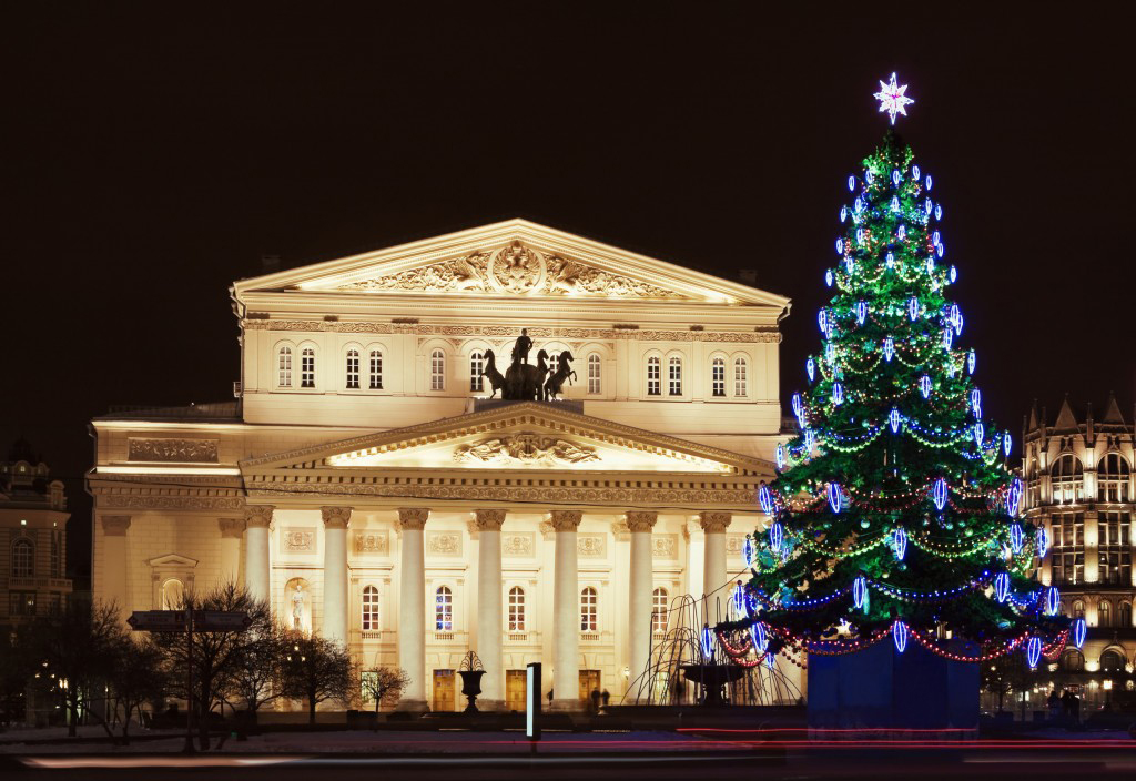 The Christmas celebrations in Bolshoi Theater of Russia